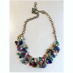 J. Crew multi gem costume jewelry